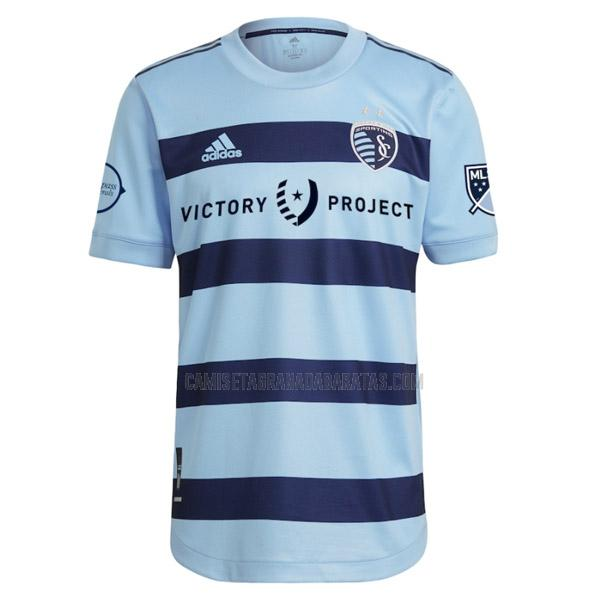 camiseta primera del sporting kansas city 2021-22